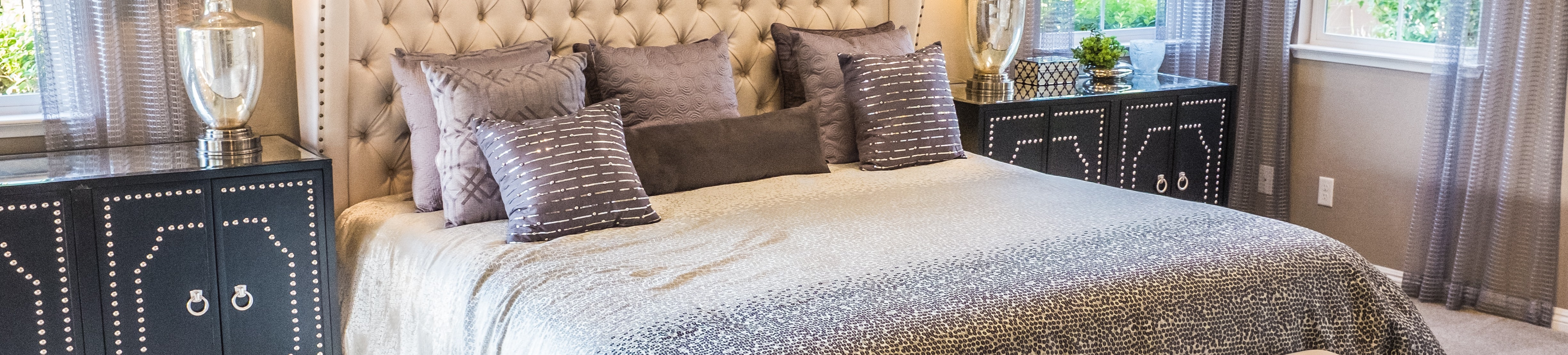 bedding on bed